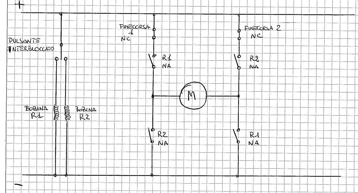 Circuito Xacobeo : Schema elettrico motore per serrande collegamento