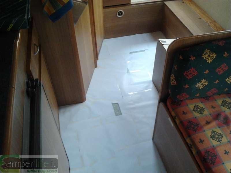 Ricoprire il pavimento del camper camper life for Dima per cerniere anuba fai da te