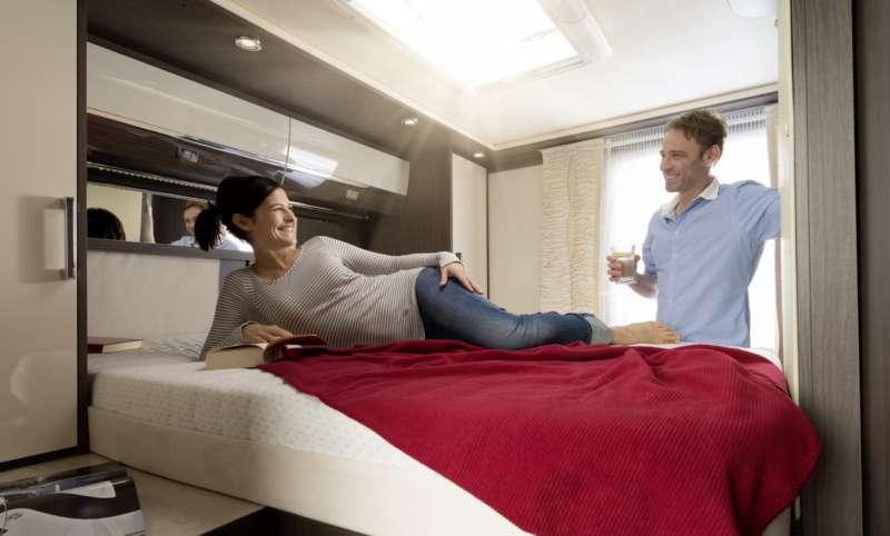 Il letto matrimoniale sul camper camper life