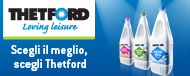 prodotti Thetford offrono elevata qualità e comfort
