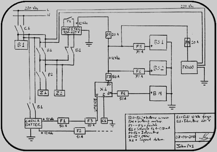 Schema Elettrico Inverter : Installazione di batterie servizi su rimor sb