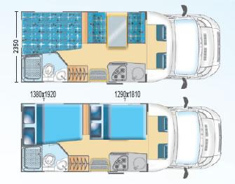 Camper a noleggio una guida pratica camper life - Camper 4 posti letto ...