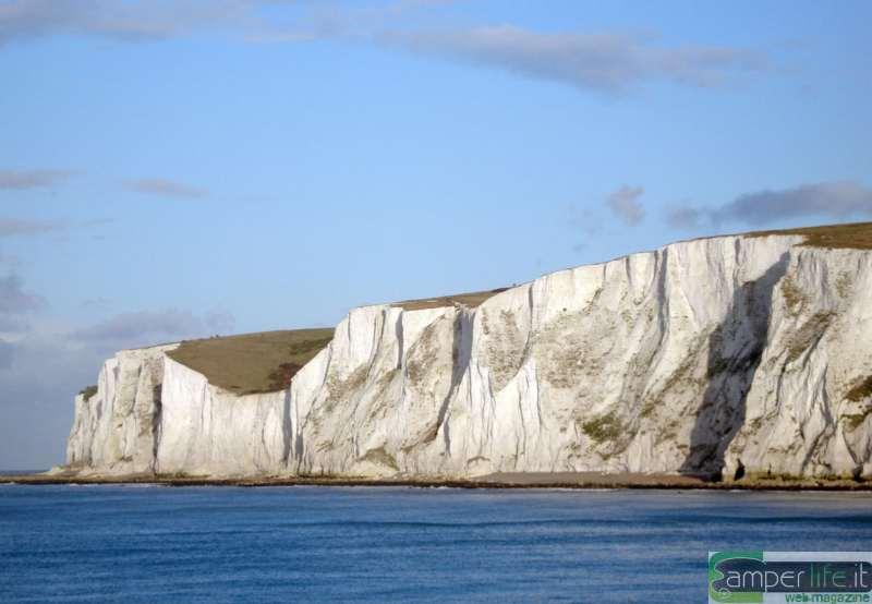 camper inghilterra Dover paesaggio White Cliffs